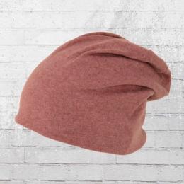 AOP Mütze Slouch Beanie rot melange