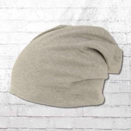 AOP Slouch Beanie Mütze grau melange