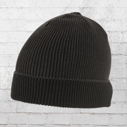 AOP Strick Mütze Beanie schwarz