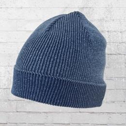 AOP Strickmütze Beanie vintage blau