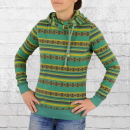 ATO Berlin Damen Kapuzensweater Jondra grün gelb