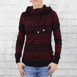 ATO Berlin Damen Kapuzensweater Jondra schwarz rot