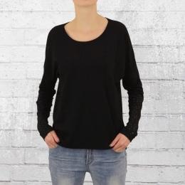 ATO Berlin Damen Longsleeve Shirt Nora mit gelasertem Rücken schwarz