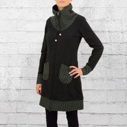 Ato Berlin Damen Mantel Marieke schwarz grün