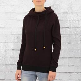 ATO Berlin Damen Pulli Jondra Kapuzensweater bordeaux schwarz