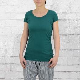 ATO Berlin Organic Cotton Damen T Shirt Jula dunkelgrün