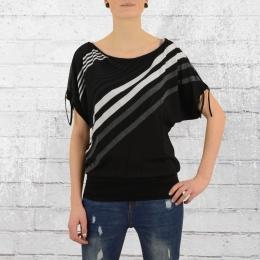 ATO Berlin Damen Shirt Mona Top schwarz weiss grau