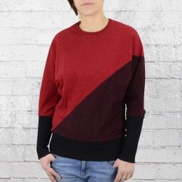 Ato Berlin Damen Sweater Jonna rot schwarz