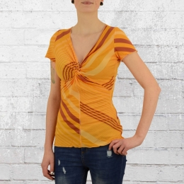 ATO Berlin Damen T-Shirt Angie gelb orange