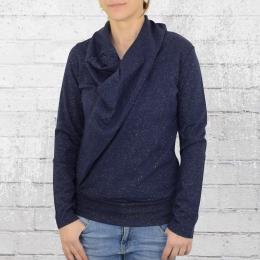 ATO Berlin Frauen Longsleeve Shirt Mariola blau gold