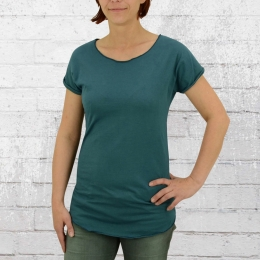 ATO Berlin Organic Cotton Damen T Shirt Anju petrolfarben