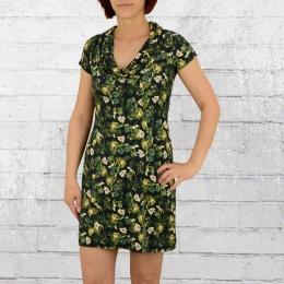 ATO Damen Minikleid Erbse schwarz grün