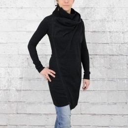 ATO Kleid Frauen Jacke Sonja schwarz meliert