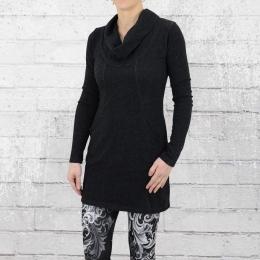 ATO Mini Kleid Frauen Halbmond schwarz meliert
