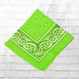 Bandana Paisley Tuch Nickituch lime grün