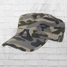 Beechfield Army Cap Top Gun Curved Military grau camo