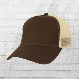 Beechfield Cap Trucker Mütze braun beige