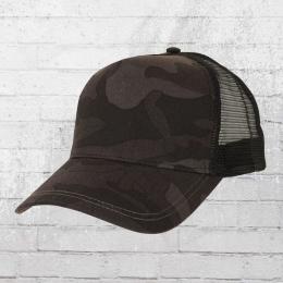 Beechfield Mütze Camo Trucker Cap schwarz camouflage