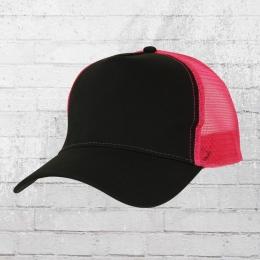 Beechfield Mütze Trucker Cap schwarz pink