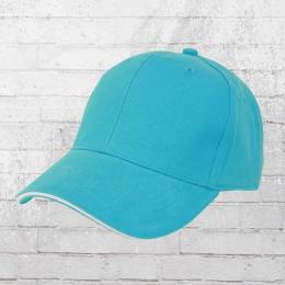 Beechfield Sandwich Cap blau weiss