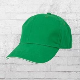 Beechfield Sandwich Cap grün weiss
