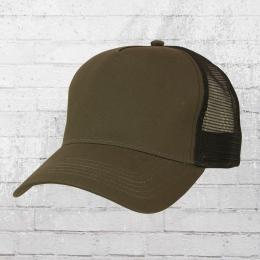 Beechfield Snapback Trucker Cap dunkel oliv