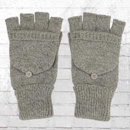 Beechfield Strick Handschuhe Fliptop hellgrau