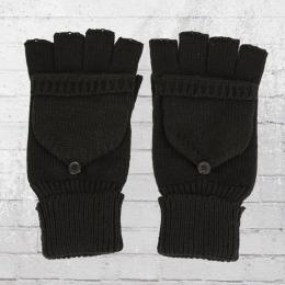 Beechfield Strick Handschuhe Fliptop schwarz