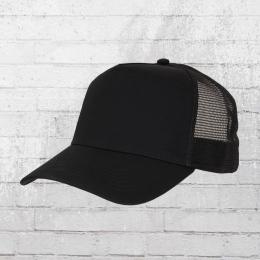 Beechfield Trucker Mütze schwarz uni