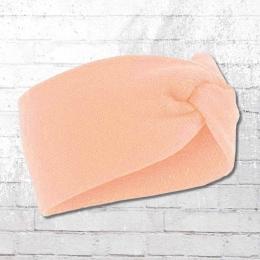 Beechfield Twist Strick Stirnband pastel rosa