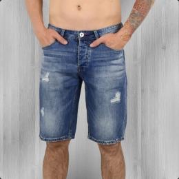 Trueprodigy Herren Jeans Short blau