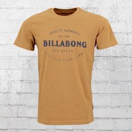 Billabong,Männer,Herren T-Shirt Brewery ocker braun