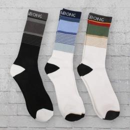 Billabong 3er Pack Strümpfe Stripe Socks schwarz weiss