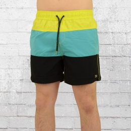 Billabong Badehose Tribong Layback Bade-Shorts neongelb türkis schwarz