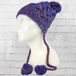Billabong Bommel Mütze Tabernacle Beanie blau lila