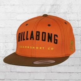 Billabong Cap Yupoong Kappe Snapback Sama orange braun