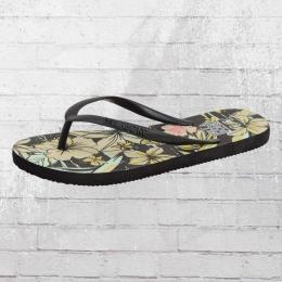 Billabong Eli Frauen Zehentrenner Sandalen schwarz beige