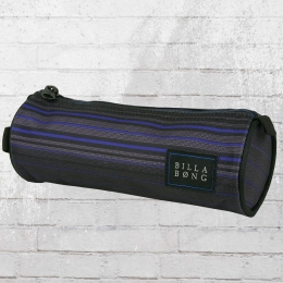Billabong Federmappe Barrel Pencil Case Schlamperbeutel grau blau gestreift
