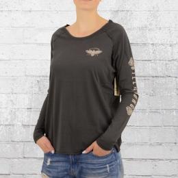 Billabong Frauen Oversized Longsleeve Shirt Dunes dunkelgrau