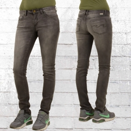 Billabong Frauen Skinny Jeans Hose Tender schwarz grau