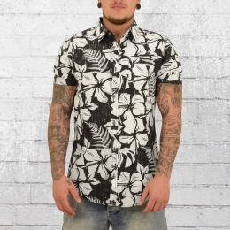 Billabong Herren Hawaii Hemd All Day Floral schwarz weiss