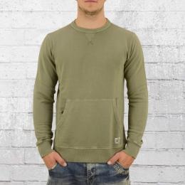 Billabong Herren Sweater Wave Washed Crew vintage oliv