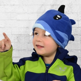 Billabong Kinder Fleece Mütze Lucas Fisch marine blau