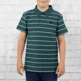 Billabong Kinder Polo Shirt Braid Boys petrol-grün