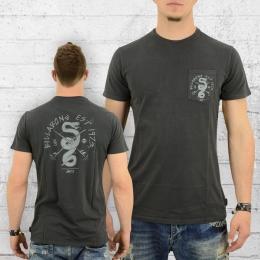Billabong Männer T-Shirt mit Brusttasche Turf War dunkelgrau