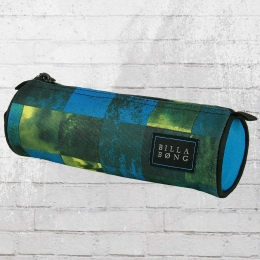 Billabong Schlamperbeutel Barrel Pencil Case Federmappe blau grün gelb