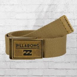Billabong Sergeant Belt Stoffgürtel khaki