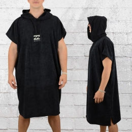 Billabong Strand Poncho Vader Hoodie Towel Bademantel schwarz