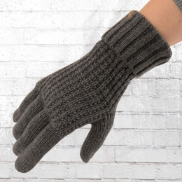 Billabong Strick Finger Handschuhe Brooklyn grau