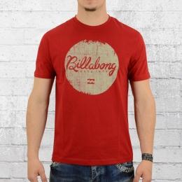 Billabong T-Shirt M�nner Scriptik rot